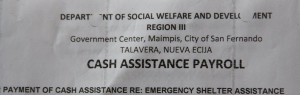 Cash Assistance and Emergency Shelter Assistance  (5)