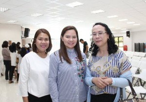 Mayor Nerivi Santos Martinez kasama sila Judge Anarica J. Castillo Reyes at si Arceli De Jesus